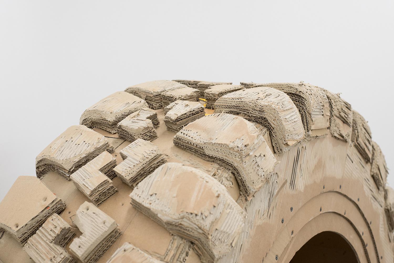 Close up tire profile sculpture