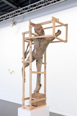 caged figure